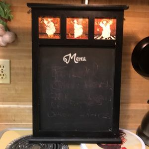 Chef Wood Chalkboard Kitchen Notes And Meue 👨🍳